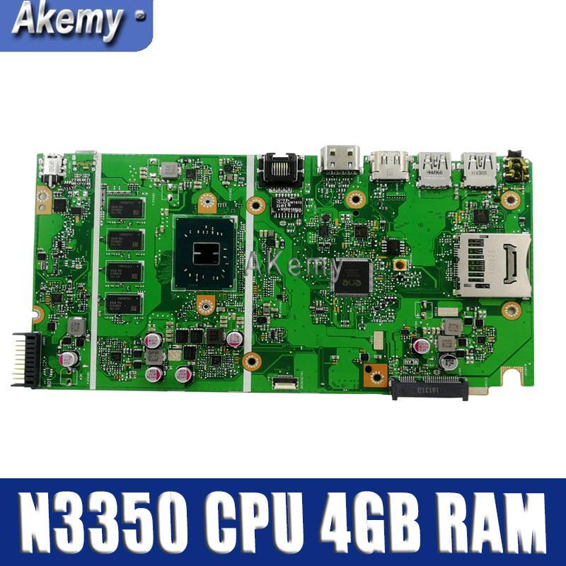Motherboard Para ASUS X541NA X541NA laptop motherboard mainboard X541NA X541N motherboard teste 100% OK N3350 CPU 4 GB de RAM