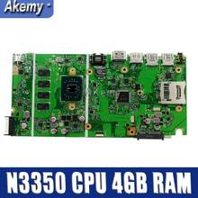 X541NA motherboard Für ASUS X541NA laptop motherboard X541NA mainboard X541N motherboard test 100% OK N3350 CPU 4 GB RAM(China)