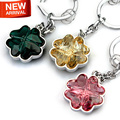 2016 New Fashion Four Leaf Clover Unique Design 100% Swarovski Crystal Cactus Ho Car Key Chain Auto Key Ring Gift Car-Styling