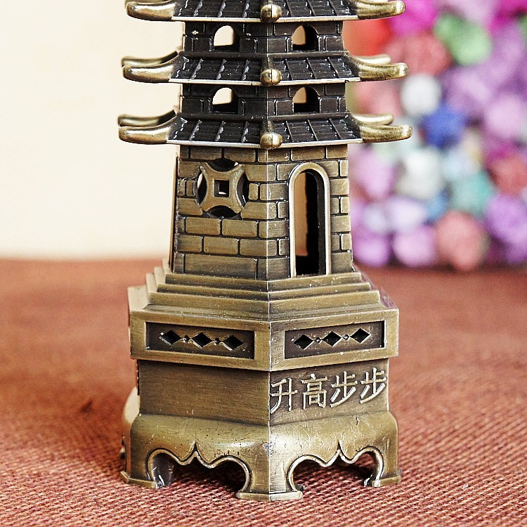 New Buddhist supplies step by step rise to Wenchang Tower ornaments 9 layers 13 layers fine work large medium and small in Statues Sculptures from Home Garden