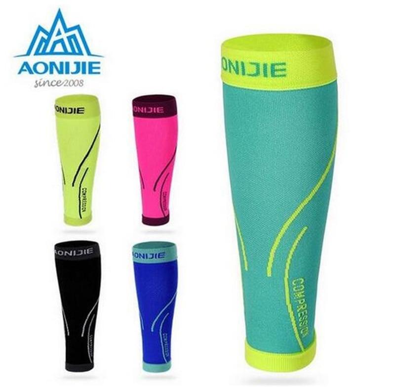 AONIJIE Running Socks Calf Compression Leg Warmers Sleeve Shin Guard Cycling Football Basketball Calf Support ombre circle calf length socks