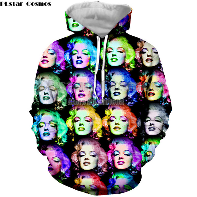 cea0874b6116 latest fashion hoodies sexy goddess Marilyn Monroe men women hoodies 3D  printing sweatshirt fashion brand clothing coat