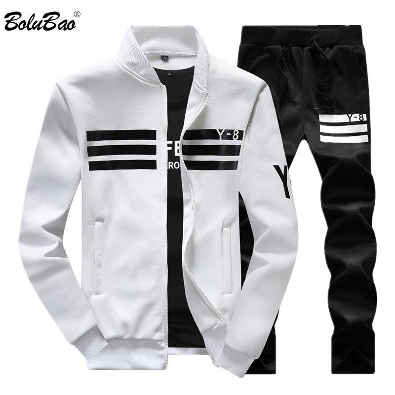 BOLUBAO 2020 New Autumn Men Set Quality Fleece Sweatshirt + Pants Male Tracksuit Sporting Sweat Suits Mens Sportswear Sets
