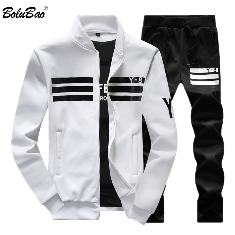 BOLUBAO New Autumn Men Set Quality Fleece Sweatshirt + Pants Male Tracksuit Sporting Sweat Suits Mens Survetement Sportswear