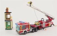 421PCS City Series The Fire Engine Set Comaptible Lepins Building Blocks Bricks New Year Gift Boys Girls Christmas