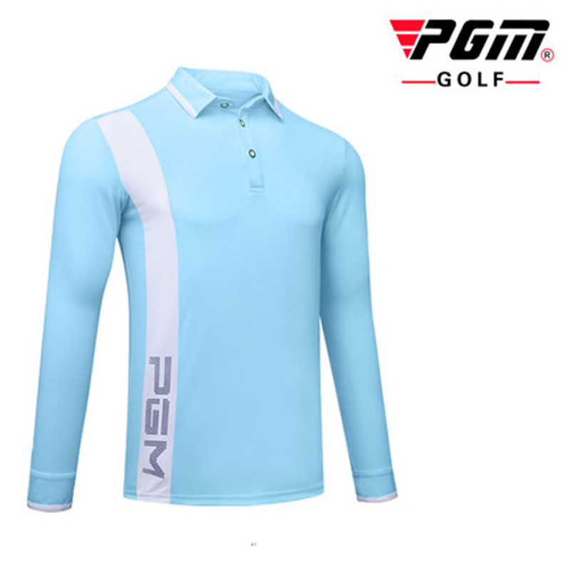 Autumn new PGM golf clothing mens T-shirt game with the same section of the ball sports function fabric wind and warm