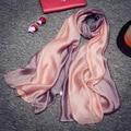 Soft Real do Lenço da Seda para As Mulheres 190*100 cm 2017 Nova Gradiente Cachecol e Pashmina Mandala Cobertor Xales Estolas lenços de Marca de Luxo