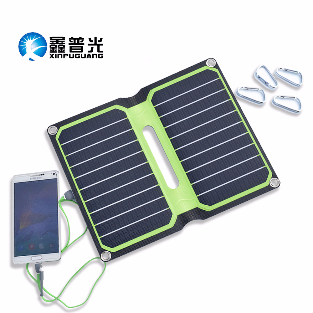 5V 10W ETFE Laminated Foldable Solar Charger Power Bank USB 2A Cargador Solar Panel Flexible For Mobile Phone Charge Solar Cells image