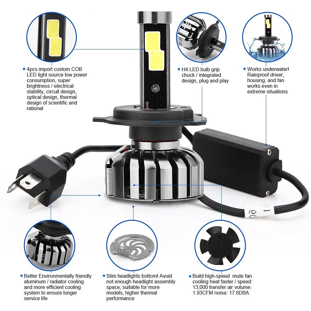 COB LED Hightlight Λαμπτήρες Kit H1 H3 H7 H8 / H9 / H11 - Φώτα αυτοκινήτων - Φωτογραφία 2