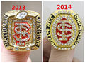 2013 2014 FSU Florida State Seminoles National Championship Rings Size 11 2pcs one set