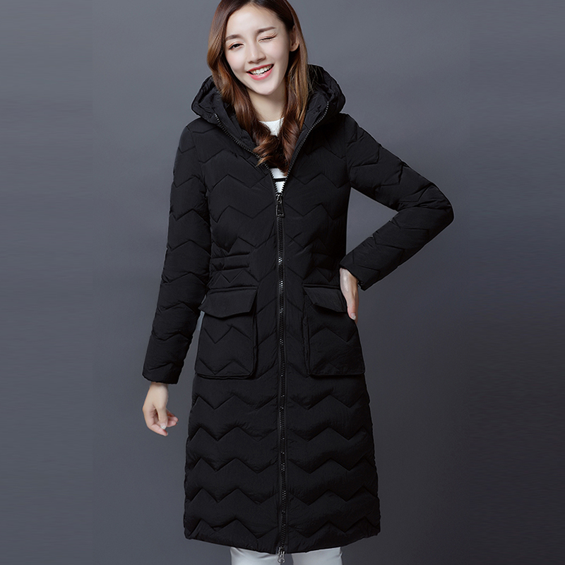 2017 New Fashion Winter Women Cotton-padded Jacket Thick Warm Hooded Long Parka Slim Winter Coat Women Parkas Overcoat FP0002 new wadded winter jacket women cotton long coat with hood pompom ball fashion padded warm hooded parkas casual ladies overcoat