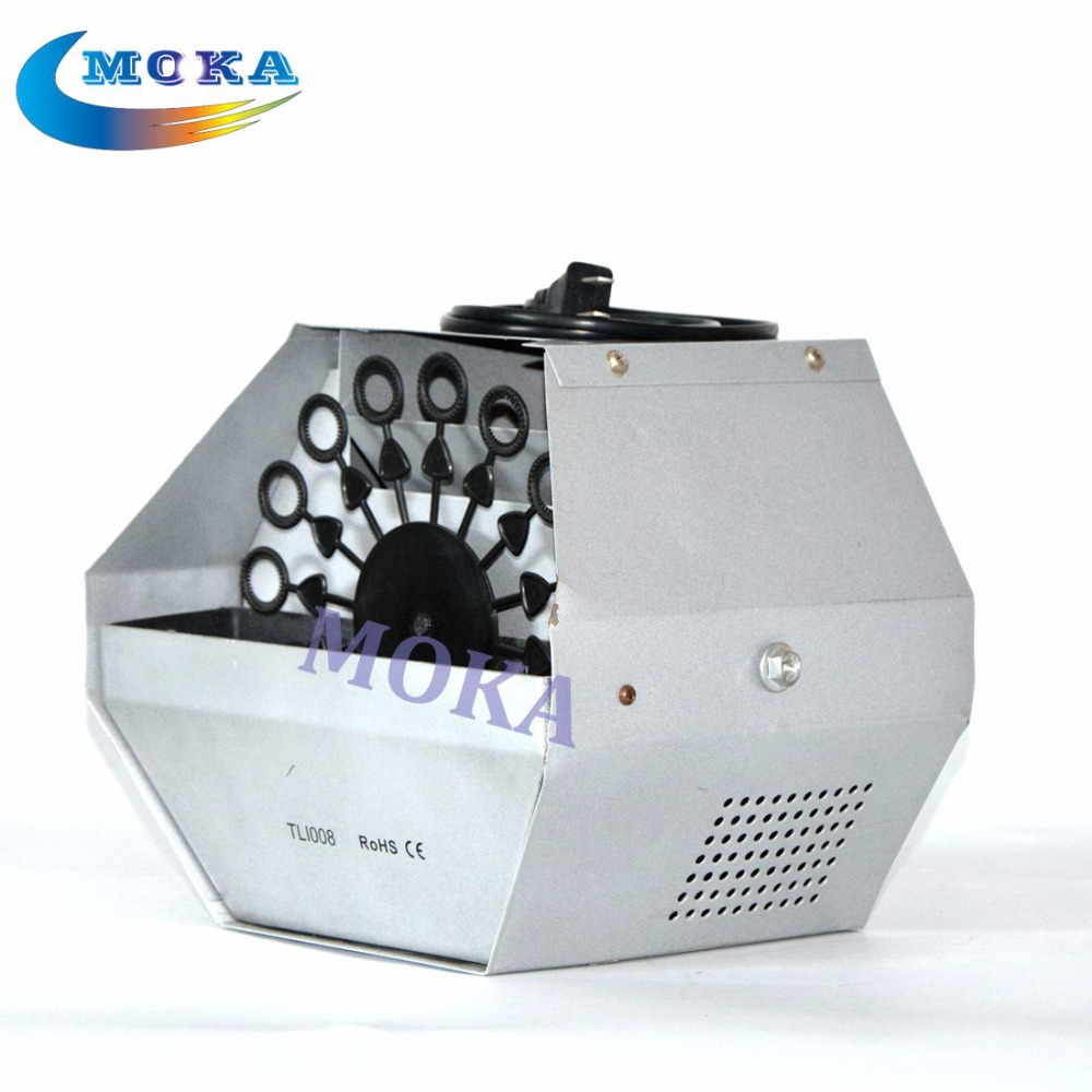 цена на 8pcs/lot Cheapest 60W Mini Bubble Machine Stage Effect Machine Remote Control Soap Blowing Bubble Blower Machine 8PCS/lot