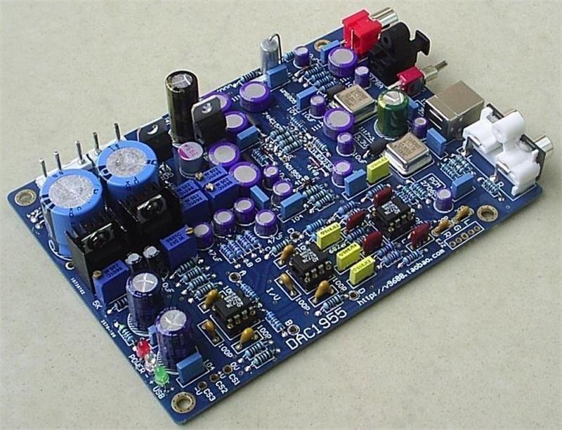 New version 24Bit AD1955+WM8805+PCM2706 DAC Board(USB+Optical+coaxial)AC15V hot sale dac board optical fiber coaxial usb dac decoding amp board