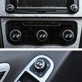 6 pcs R Chave Do Emblema Do Emblema Do Carro Auto Adesivo de Resina Estéreo Rádio botão Estilo Etiqueta para VW golf 6/7 Novo Polo Bora Lavida CC