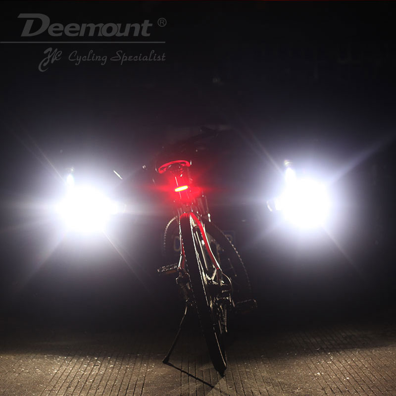 Deemount 100 LM Genopladeligt COB LED USB Mountain Bike Tail Light - Cykling - Foto 6