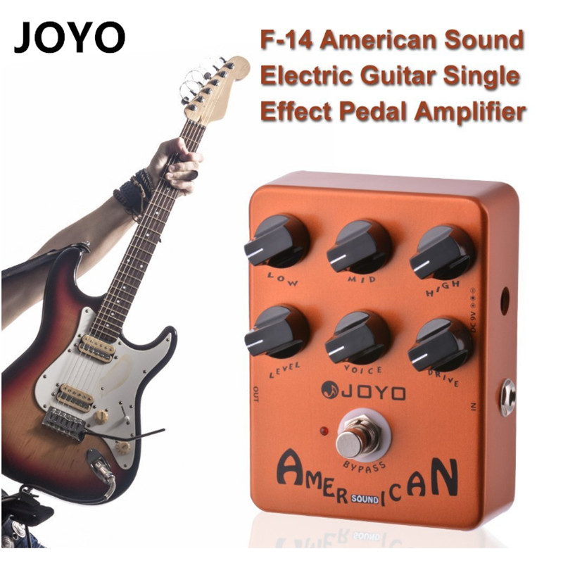 Electrical Guitar Effect Pedal Amplifier Simulator Stompbox Amp Emulating With Voice Control JF-14 American Sound aroma dumbler dumble amp simulator guitar effect pedal adr 3 sound overdrive mini analogue volume control gain tone control