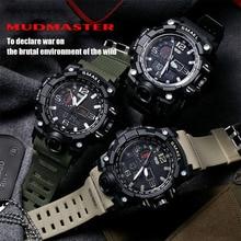 Digital Sport Watch Men Quartz Led Analog Dual Display WristWatch Wrist Army Waterproof Male Relogio Masculino Hodinky 36