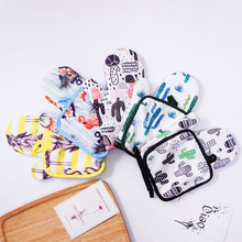 1 Pair Cute Cotton Fashion Cactus Flamingo Kitchen Pad Cooking microwave baking BBQ oven potholders oven mitts kitchen gloves цена