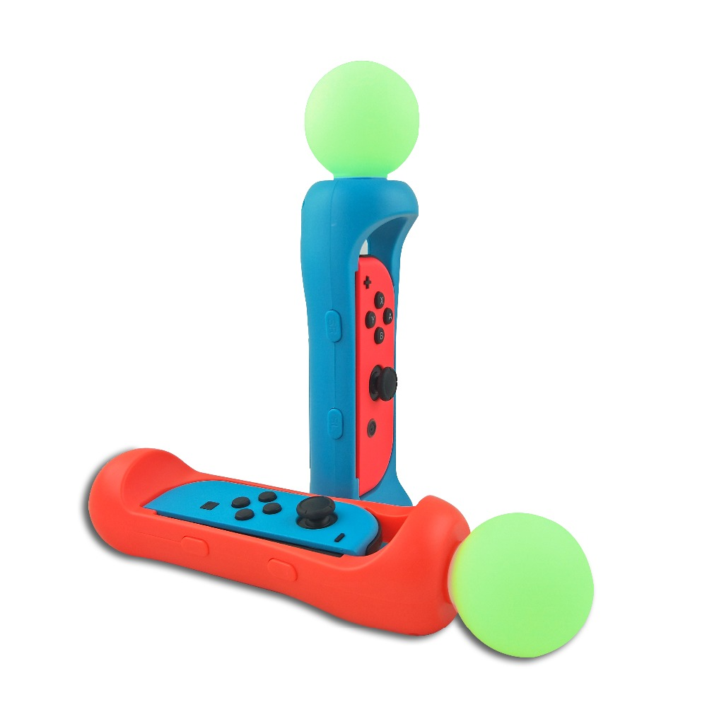 Купить с кэшбэком L+R Nintendos Switch Somatosensory Game Playing Grip Handgrip Handle Grip For Nintend Switch NS Joycon Joy-con With Green Light