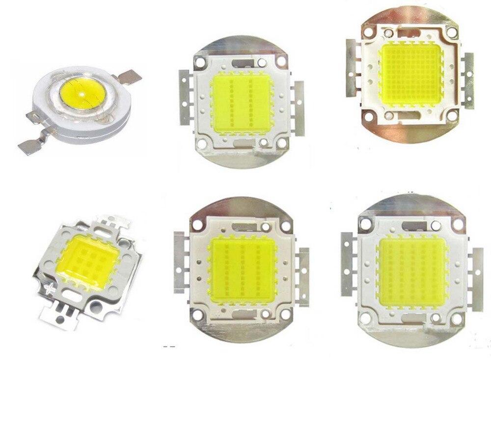 Beleuchtung Zubehör DemüTigen Kalt Weiß Licht 6000 K/3500 K/100 00 K/20000 K/30000 K 1 W 3 W 5 W 10 W 20 W 30 W 50 W 100 W High Power Led Lampe Epistar Chip Cob Integrierte