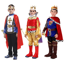 Medieval Prince Costume For Boys Royal King Kids Cosplay Halloween Carnival Party Dress Up Children Sui
