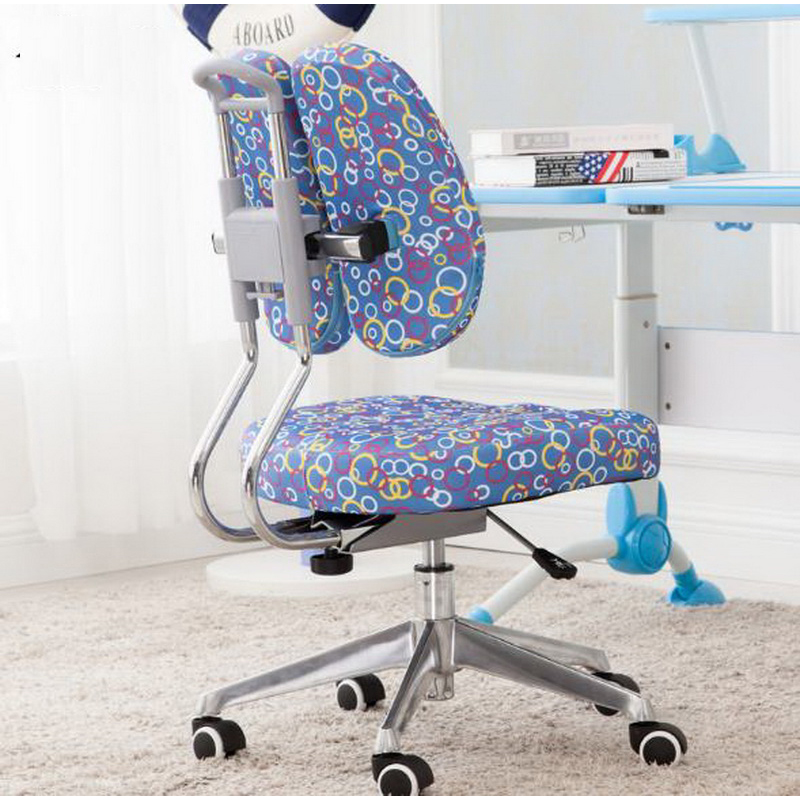 240317/Adjustable pillow design/Children learn chair/High quality breathable mesh/Computer home boss chair/Adjustable handrails high quality adjustable height protection vision for children learning set of table and chair