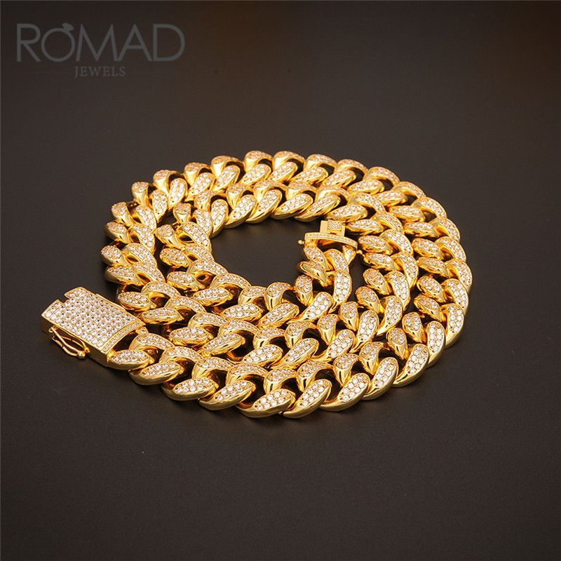 Romad 20mm Width Iced Zircon Miami Cuban Link Men Necklace Choker Bling Bling Hip Hop Jewelry Gold Silver Long Chain Men Gift G3 turbo cartridge chra td03l4 49131 05312 49131 05310 49131 05313 6c1q6k682cd 6c1q6k682ce for ford transit puma duratorq v347 2 2l