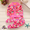 BibiCola 2016 baby girls/boys thick sweater toddler clothes set children clothing sets Kids Autumn winter christmas outfits set