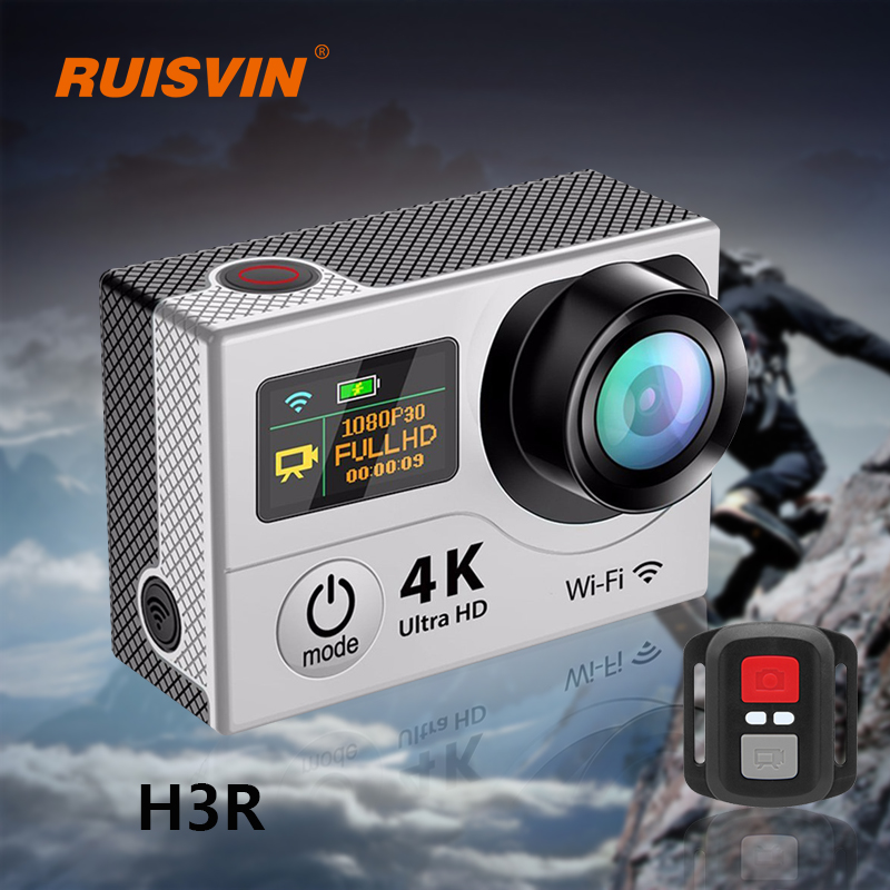 H3R Remote Action Camera Fulll HD 1080P Sports DV Camera 4K WiFi 2.0 Dual Screen Helmet Cam Gopro hero 4 Style Waterproof Camera