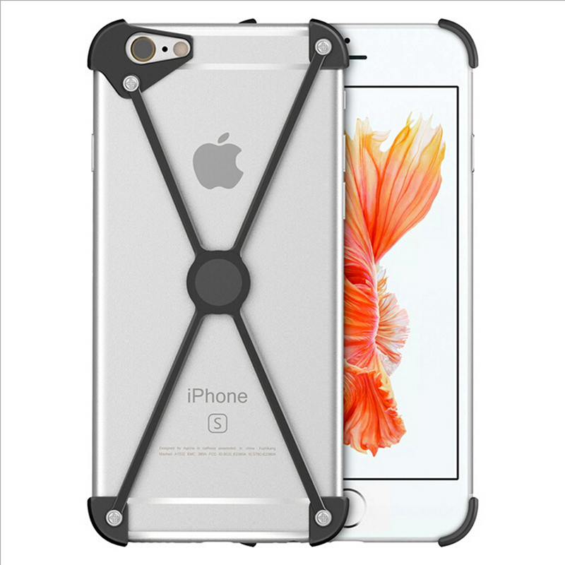 Hot Selling X Shape Case Aluminum Bumper for iPhone 7 Plus Metal Frame Shockproof Covers For iPhone 8 Plus 5 5S SE 6S Plus Shell