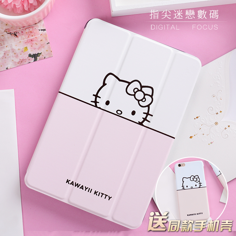 Cute Cat Leather Case Smart Cover For iPad Pro 9.7 10.5 tablet Case Flip Cover For ipad Air Air2 Mini 1 2 3 4 New 9.7 2017 mimiatrend tige for apple ipad air 1 2 air2 flip pu leather case smart cover for new ipad 9 7 2017 tablet case for ipad pro 9 7