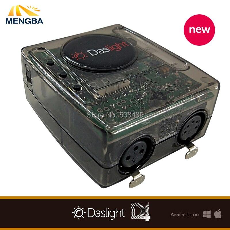 Stage Contrôle De Logiciel DVC4 Daslight Virtual Contrôleur DMX USB Éclairage Interface 1536 Canaux de Sortie avec MiniSD