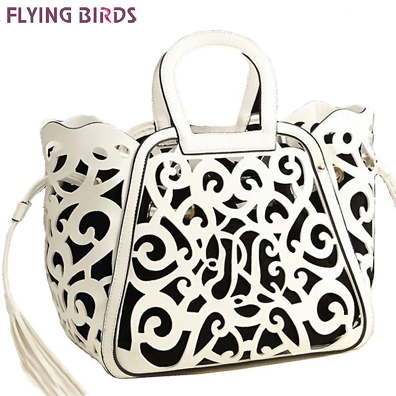 US $37.41 |FLIEGEN VÖGEL Berühmte Marke Frauen Leder Handtasche Designer Messenger Bags Frauen Umhängetasche Auszuhöhlen Trage Quaste Taschen