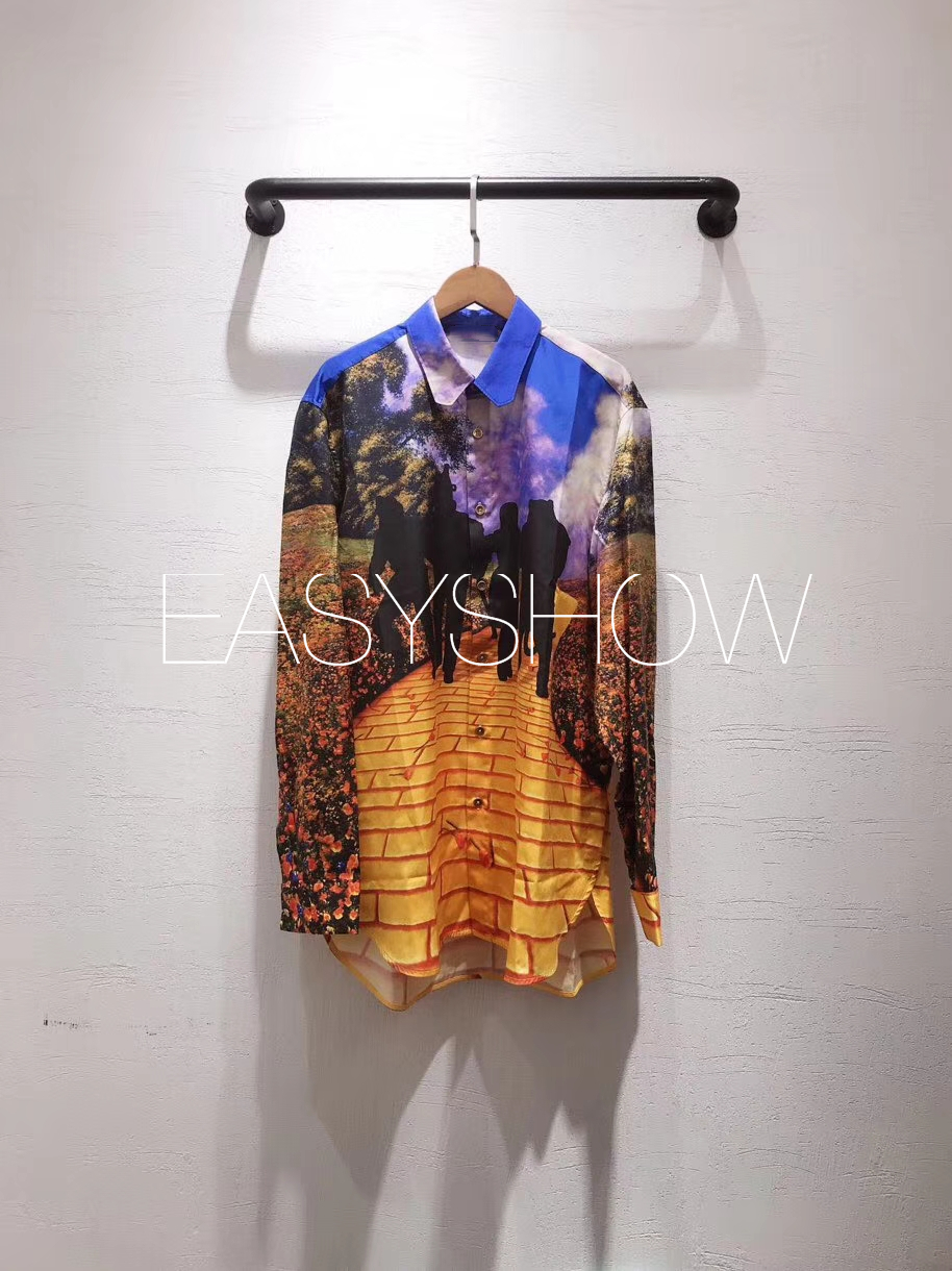 2019ss Japón nueva camisa Casual de Primavera de manga larga Mujer Top cuello vuelto blusa larga de gran tamaño-in Blusas y camisas from Ropa de mujer    1