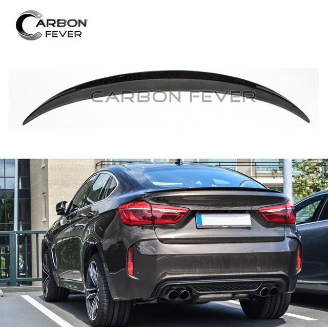 For Bmw X6 F16 Carbon Fiber Rear Trunk Spoiler Wing Crossover Suv