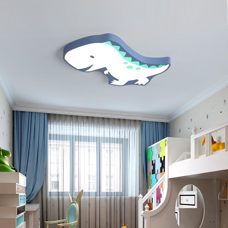 Новое поступление, современная светодиодная потолочная люстра в виде динозавра для спальни, детской комнаты, домашняя Потолочная люстра с ...
