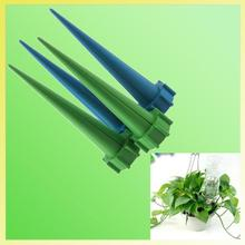 12Pcs set Garden Cone Lazy Watering Spike Plant Flower Waterers Bottle Irrigation System Practical watering Sprinklers Drop Ship cheap Watering Kits NEWKBO HG799 Plastic Greeen Blue 135*35*35mm About 44g