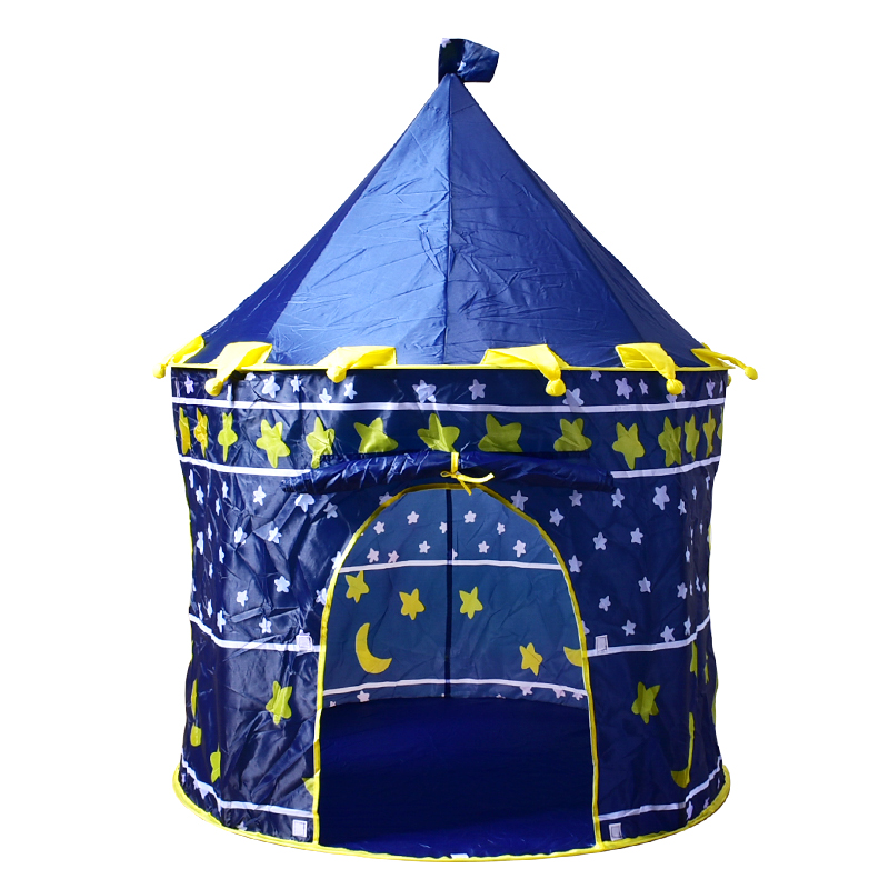 Children Folding Play House Portable Beach Tent Boy girls Play Game House Kids Princess Prince Castle Indoor Outdoor Toys Tents outdoor puzzle folding mongolia bag game house tents