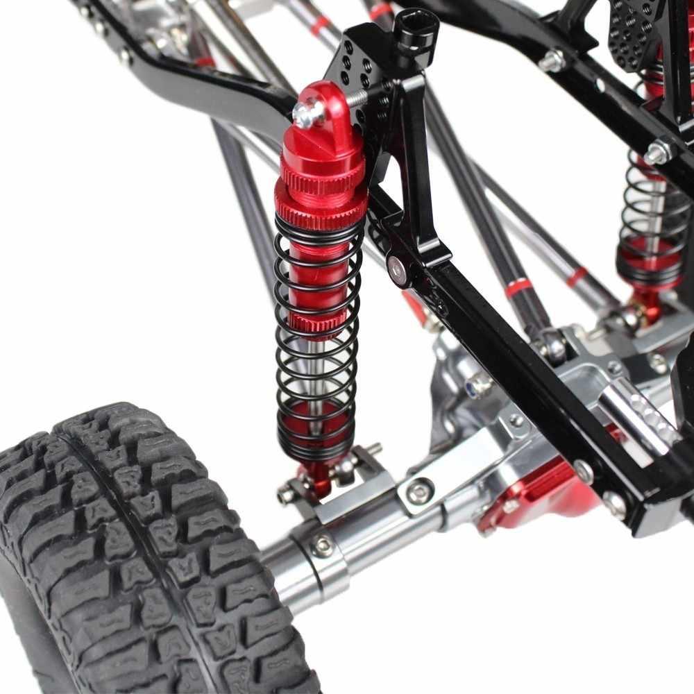 Merepaccor Logam 2pcs100mm/3.94in Shock Absorber untuk 1/10 RC Crawler Aksial Scx10 D90 RC Suku Cadang Mobil