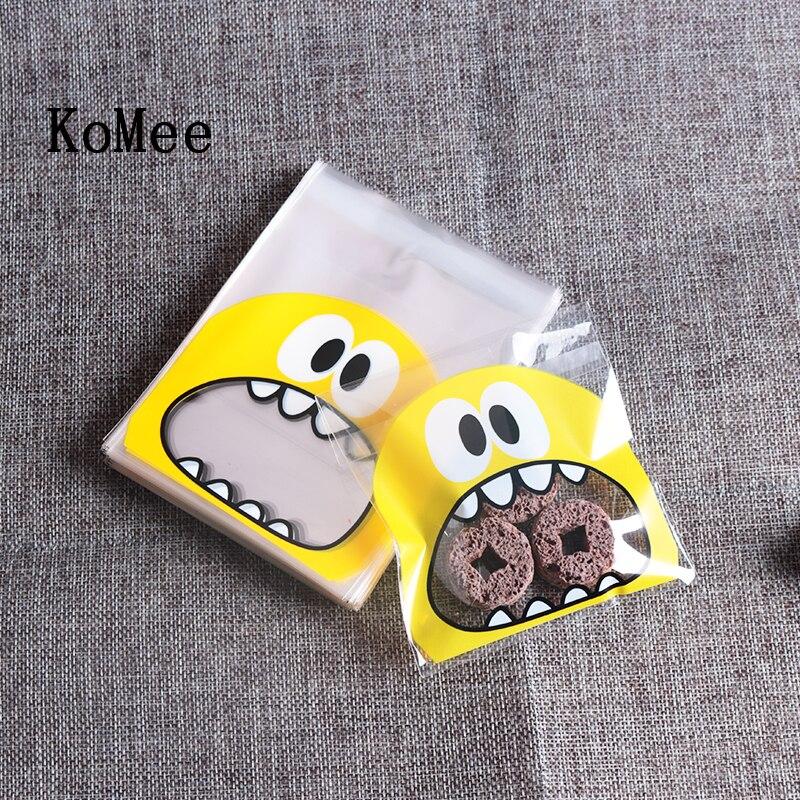 10*10 + 3 Cm Cookie Tasche Keks Kunststoff Beutel 100 Pcs/lot Schmuck Taschen Schöne Geschenk Beutel Zu Kinder Lebensmittel Lagerung Großhandel