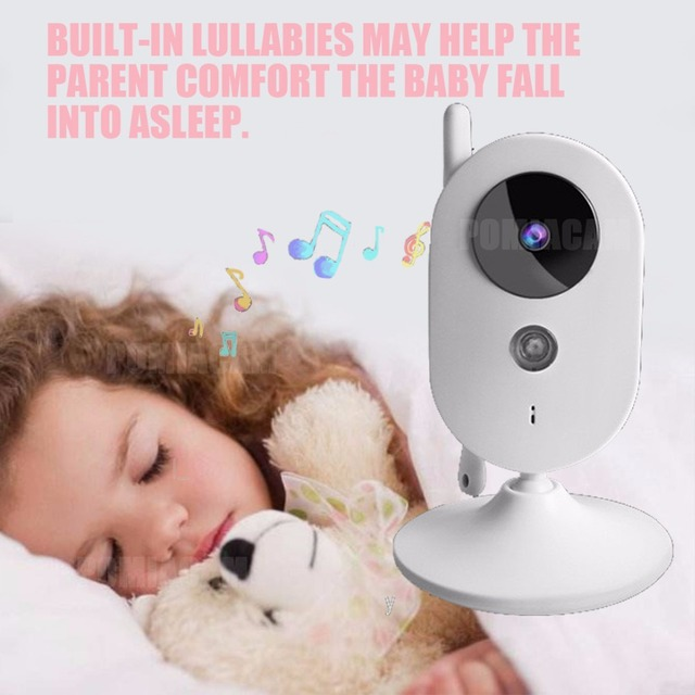 303A baby monitor 3.2 inch Wireless Video Color Baby Monitor nice Baby Nanny Security Camera Night Vision music 5