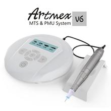 دروبشيبينغ 2019 تجميل دائم ماكينة رسم الوشم التجميلي Artmex V9 العين الحاجب الشفاه الروتاري القلم MTS PMU نظام مع V9 الوشم إبرة