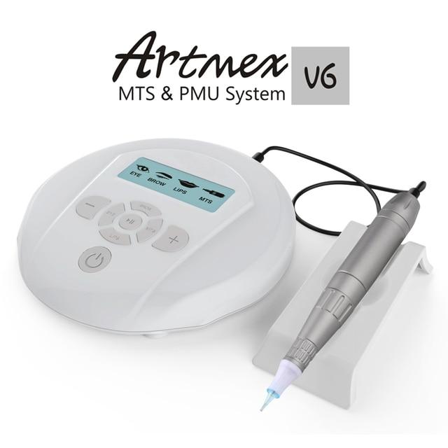 Dropshipping 2019 Permanent Makeup Microneedles Machine V6 Eye Brow Lip Rotary Pen MTS PMU System Needle Skin Care Tool