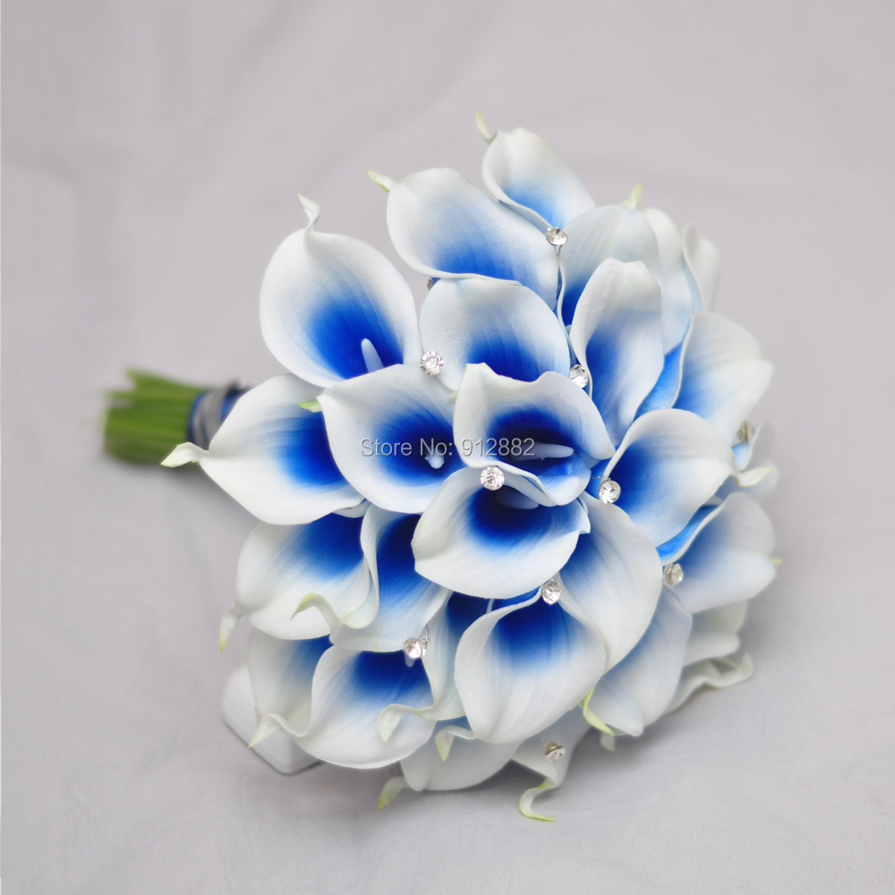 2018 new design royal blue calla lily flower arrangement for wedding dsc0003 dsc0008 dsc0006 izmirmasajfo