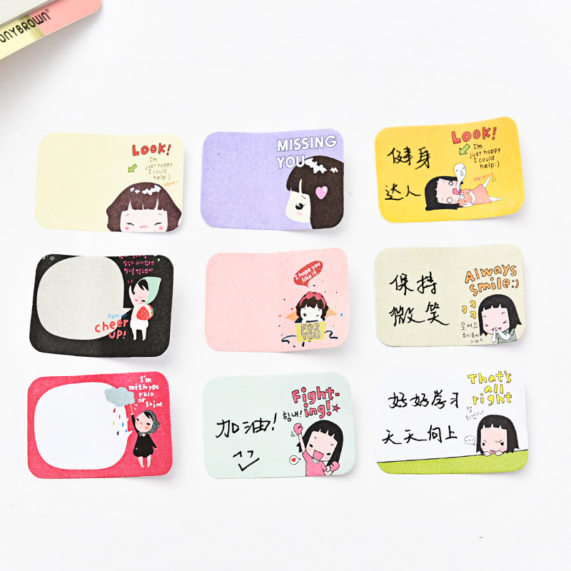 3pcs Wholesale Kawaii Sticky Notes School Office Supplies Lovely Girl Stickers Korean Post it Stationery Store Memo Pads E2090