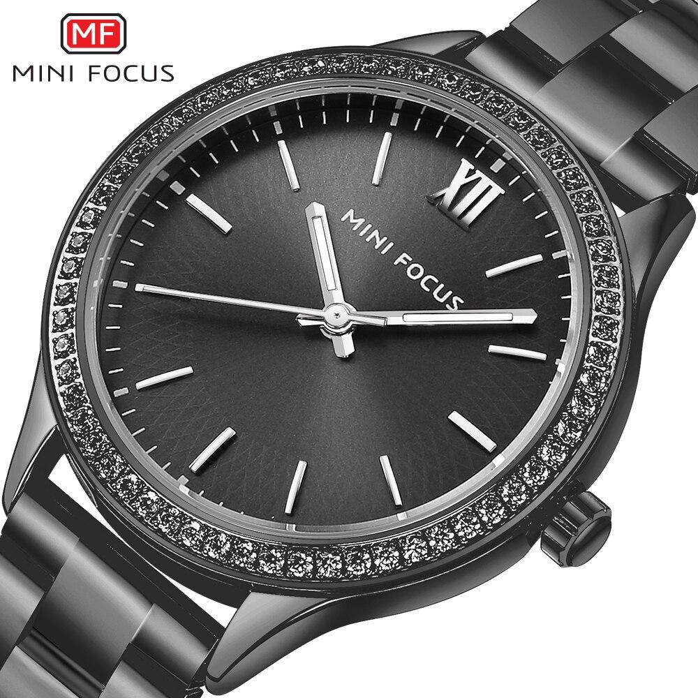 MINIFOCUS Ladies Watches Gold Watch Women Dress Top Brand Women's Fashion Stainless Steel Strap Quartz Watch Relogio Feminino цена