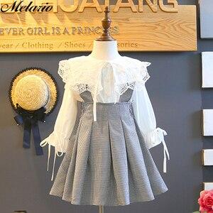 Melario filles robe automne nouveaux enfants robes fille vêtements dentelle plaid à manches longues élégant enfants princesse robe 3-7 ans