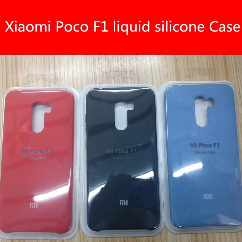 Image 2 - Para xiaomi poco pocofone f1 caso luxo silicone líquido capa  protetora super confortável escudoEstojos encaixados