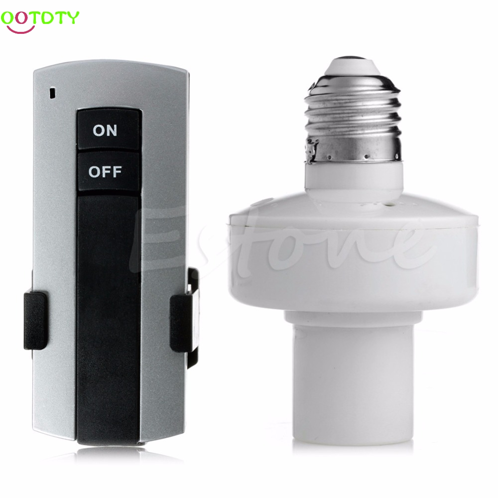 New E27 Screw Wireless Remote Control Light Lamp Bulb Holder Cap Socket Switch  828 Promotion 4pcs e27 wireless remote control light lamp bulb holder cap socket switch us ship incandescent less than 1000w brand new