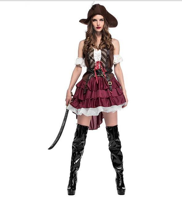 Walson Cosplay Party Pirates of the Caribbean Costume Female Pirate Fancy Dress Costumes Pirates Costumes for  sc 1 st  AliExpress.com & Walson Cosplay Party Pirates of the Caribbean Costume Female Pirate ...